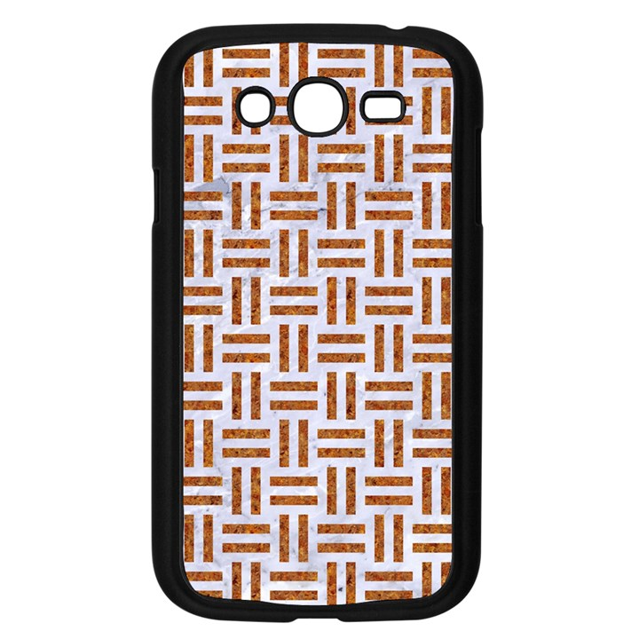 WOVEN1 WHITE MARBLE & RUSTED METAL (R) Samsung Galaxy Grand DUOS I9082 Case (Black)