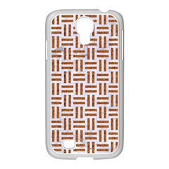 Woven1 White Marble & Rusted Metal (r) Samsung Galaxy S4 I9500/ I9505 Case (white)
