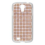 WOVEN1 WHITE MARBLE & RUSTED METAL (R) Samsung GALAXY S4 I9500/ I9505 Case (White) Front