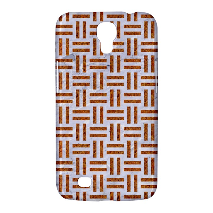 WOVEN1 WHITE MARBLE & RUSTED METAL (R) Samsung Galaxy Mega 6.3  I9200 Hardshell Case