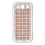 WOVEN1 WHITE MARBLE & RUSTED METAL (R) Samsung Galaxy S3 Back Case (White) Front