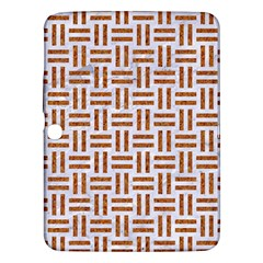 Woven1 White Marble & Rusted Metal (r) Samsung Galaxy Tab 3 (10 1 ) P5200 Hardshell Case