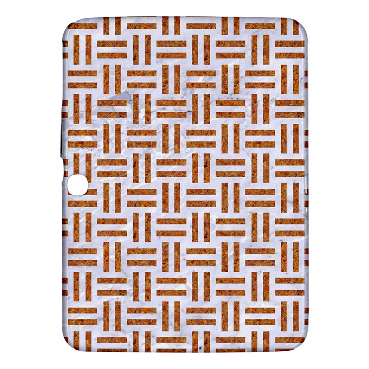 WOVEN1 WHITE MARBLE & RUSTED METAL (R) Samsung Galaxy Tab 3 (10.1 ) P5200 Hardshell Case