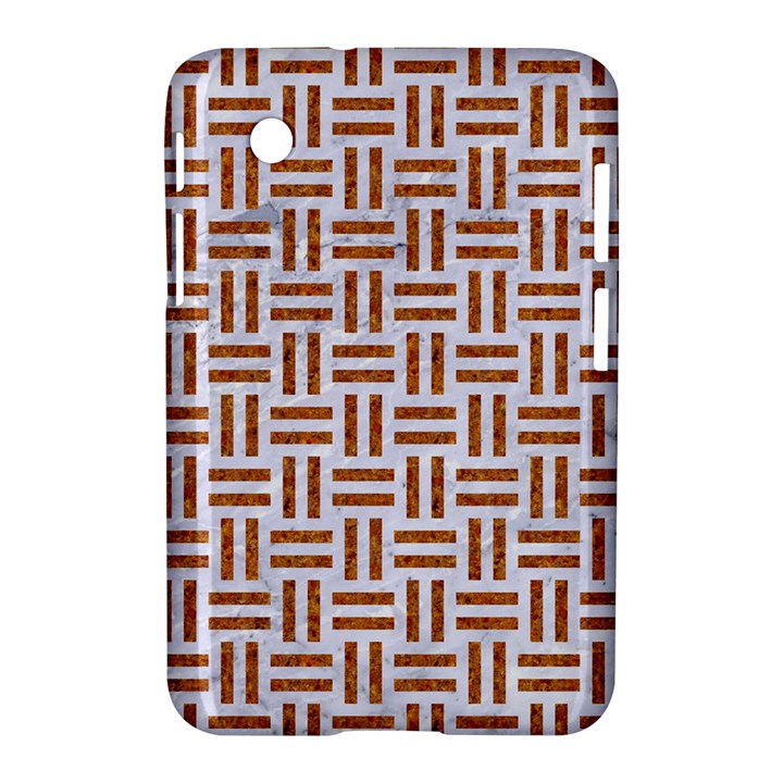 WOVEN1 WHITE MARBLE & RUSTED METAL (R) Samsung Galaxy Tab 2 (7 ) P3100 Hardshell Case