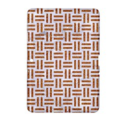 Woven1 White Marble & Rusted Metal (r) Samsung Galaxy Tab 2 (10 1 ) P5100 Hardshell Case