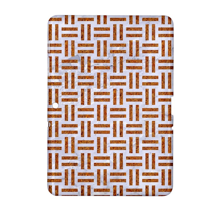 WOVEN1 WHITE MARBLE & RUSTED METAL (R) Samsung Galaxy Tab 2 (10.1 ) P5100 Hardshell Case