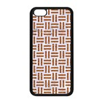 WOVEN1 WHITE MARBLE & RUSTED METAL (R) Apple iPhone 5C Seamless Case (Black) Front