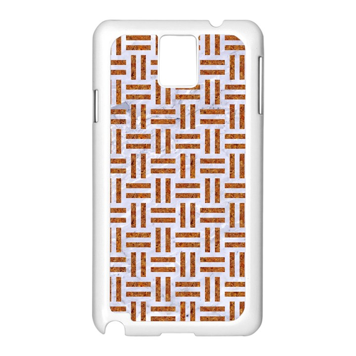 WOVEN1 WHITE MARBLE & RUSTED METAL (R) Samsung Galaxy Note 3 N9005 Case (White)