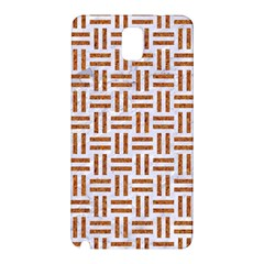 Woven1 White Marble & Rusted Metal (r) Samsung Galaxy Note 3 N9005 Hardshell Back Case