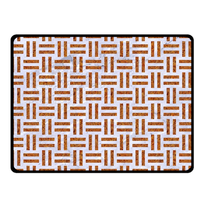 WOVEN1 WHITE MARBLE & RUSTED METAL (R) Double Sided Fleece Blanket (Small)