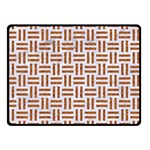 WOVEN1 WHITE MARBLE & RUSTED METAL (R) Double Sided Fleece Blanket (Small)  45 x34 Blanket Back