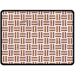 WOVEN1 WHITE MARBLE & RUSTED METAL (R) Double Sided Fleece Blanket (Large)  80 x60 Blanket Back