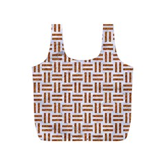 Woven1 White Marble & Rusted Metal (r) Full Print Recycle Bags (s)