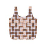 WOVEN1 WHITE MARBLE & RUSTED METAL (R) Full Print Recycle Bags (S)  Front