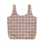WOVEN1 WHITE MARBLE & RUSTED METAL (R) Full Print Recycle Bags (M)  Back