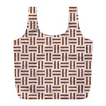 WOVEN1 WHITE MARBLE & RUSTED METAL (R) Full Print Recycle Bags (L)  Front
