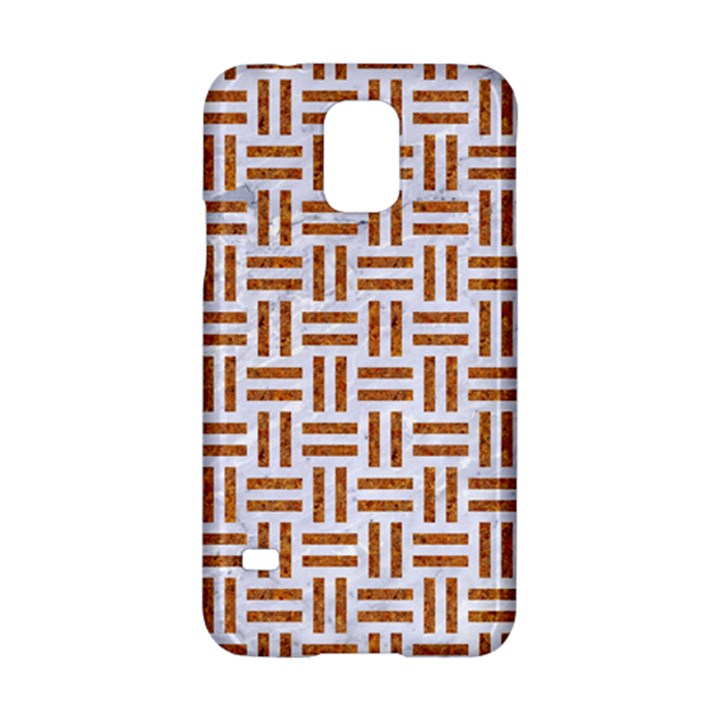 WOVEN1 WHITE MARBLE & RUSTED METAL (R) Samsung Galaxy S5 Hardshell Case