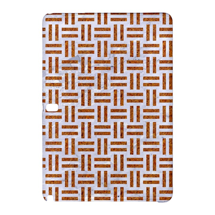 WOVEN1 WHITE MARBLE & RUSTED METAL (R) Samsung Galaxy Tab Pro 10.1 Hardshell Case