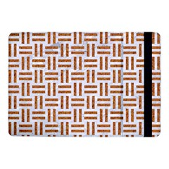 Woven1 White Marble & Rusted Metal (r) Samsung Galaxy Tab Pro 10 1  Flip Case
