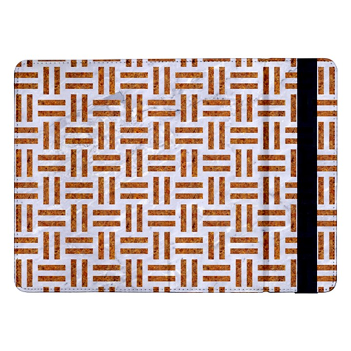 WOVEN1 WHITE MARBLE & RUSTED METAL (R) Samsung Galaxy Tab Pro 12.2  Flip Case