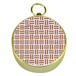 WOVEN1 WHITE MARBLE & RUSTED METAL (R) Gold Compasses Front