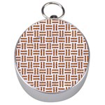 WOVEN1 WHITE MARBLE & RUSTED METAL (R) Silver Compasses Front