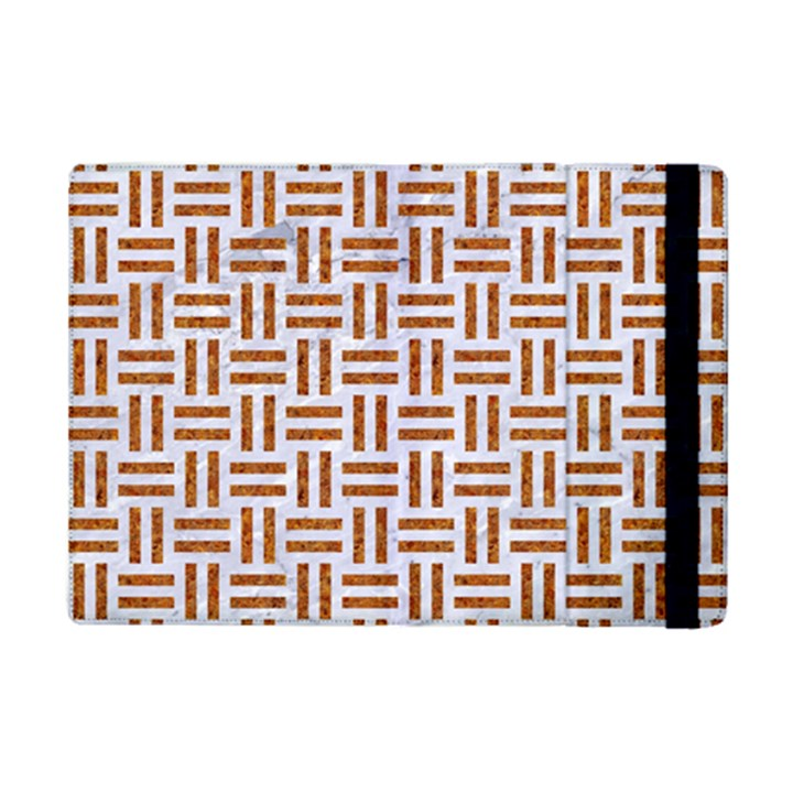 WOVEN1 WHITE MARBLE & RUSTED METAL (R) iPad Mini 2 Flip Cases
