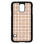 WOVEN1 WHITE MARBLE & RUSTED METAL (R) Samsung Galaxy S5 Case (Black) Front