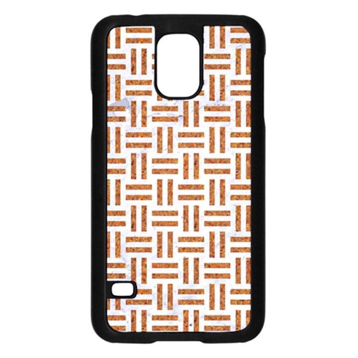 WOVEN1 WHITE MARBLE & RUSTED METAL (R) Samsung Galaxy S5 Case (Black)