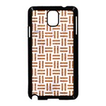 WOVEN1 WHITE MARBLE & RUSTED METAL (R) Samsung Galaxy Note 3 Neo Hardshell Case (Black) Front