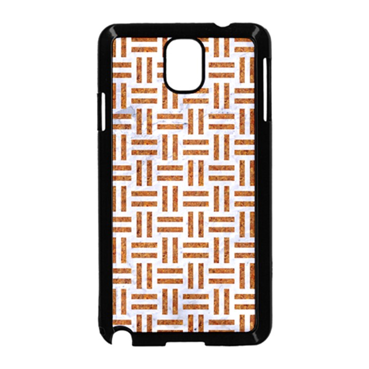 WOVEN1 WHITE MARBLE & RUSTED METAL (R) Samsung Galaxy Note 3 Neo Hardshell Case (Black)