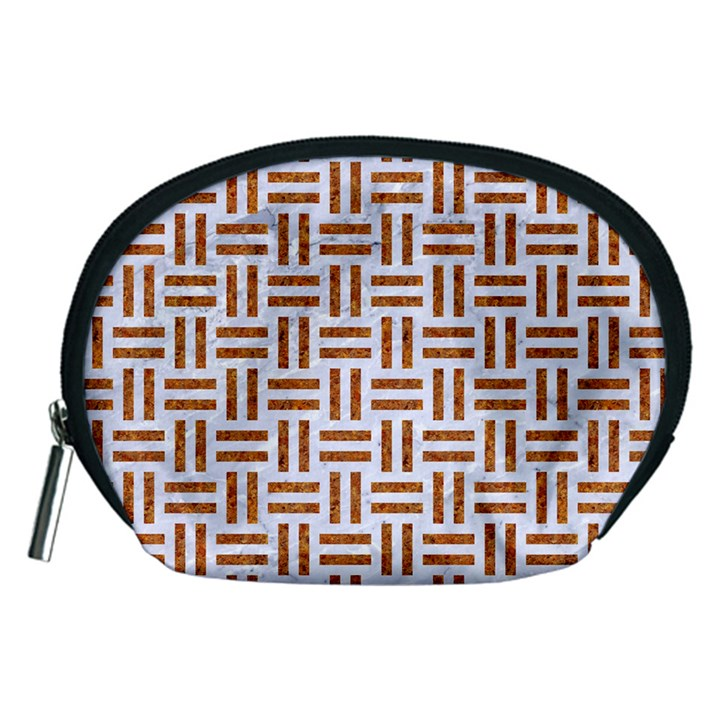 WOVEN1 WHITE MARBLE & RUSTED METAL (R) Accessory Pouches (Medium)