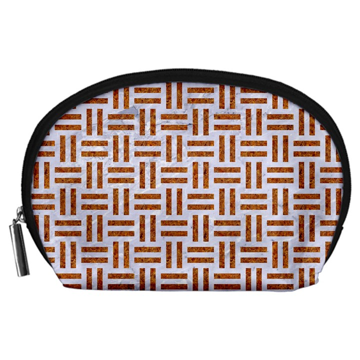 WOVEN1 WHITE MARBLE & RUSTED METAL (R) Accessory Pouches (Large)