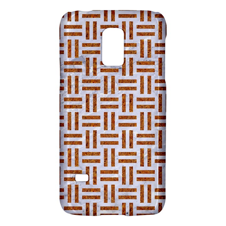 WOVEN1 WHITE MARBLE & RUSTED METAL (R) Galaxy S5 Mini