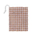 WOVEN1 WHITE MARBLE & RUSTED METAL (R) Drawstring Pouches (Medium)  Back