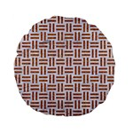 WOVEN1 WHITE MARBLE & RUSTED METAL (R) Standard 15  Premium Flano Round Cushions Front
