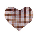 WOVEN1 WHITE MARBLE & RUSTED METAL (R) Standard 16  Premium Flano Heart Shape Cushions Front