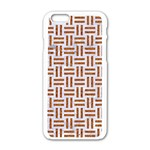 WOVEN1 WHITE MARBLE & RUSTED METAL (R) Apple iPhone 6/6S White Enamel Case Front