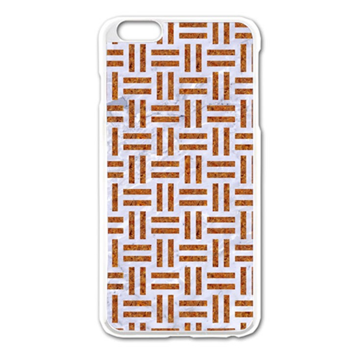WOVEN1 WHITE MARBLE & RUSTED METAL (R) Apple iPhone 6 Plus/6S Plus Enamel White Case