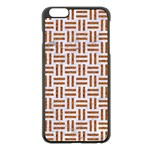 WOVEN1 WHITE MARBLE & RUSTED METAL (R) Apple iPhone 6 Plus/6S Plus Black Enamel Case Front
