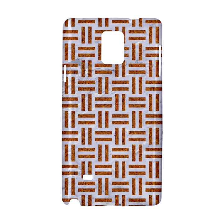 WOVEN1 WHITE MARBLE & RUSTED METAL (R) Samsung Galaxy Note 4 Hardshell Case