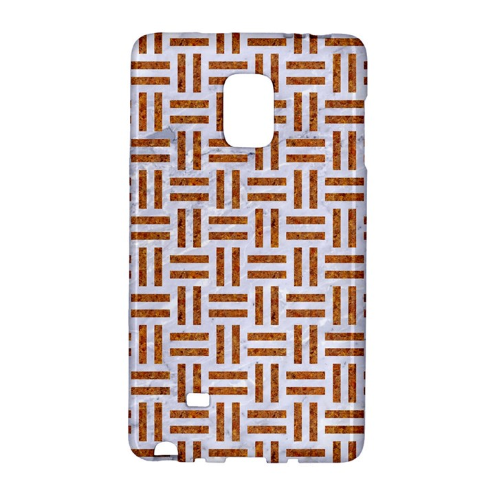 WOVEN1 WHITE MARBLE & RUSTED METAL (R) Galaxy Note Edge