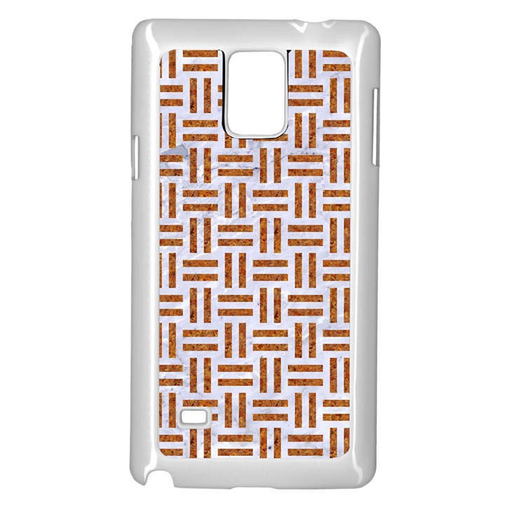 WOVEN1 WHITE MARBLE & RUSTED METAL (R) Samsung Galaxy Note 4 Case (White)