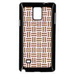 WOVEN1 WHITE MARBLE & RUSTED METAL (R) Samsung Galaxy Note 4 Case (Black) Front