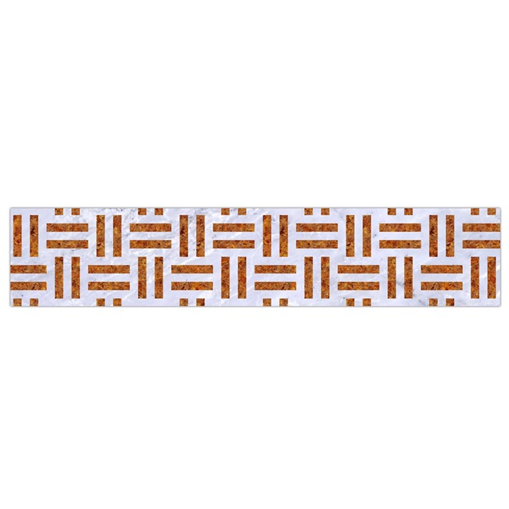 WOVEN1 WHITE MARBLE & RUSTED METAL (R) Small Flano Scarf