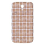 WOVEN1 WHITE MARBLE & RUSTED METAL (R) Samsung Galaxy Mega I9200 Hardshell Back Case Front