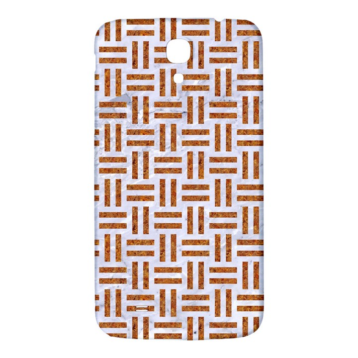 WOVEN1 WHITE MARBLE & RUSTED METAL (R) Samsung Galaxy Mega I9200 Hardshell Back Case