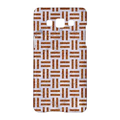 Woven1 White Marble & Rusted Metal (r) Samsung Galaxy A5 Hardshell Case