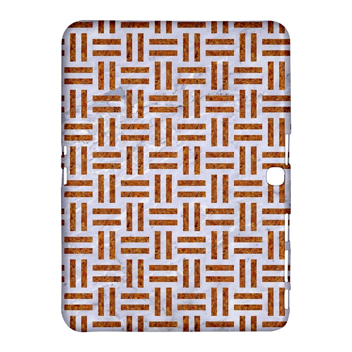 WOVEN1 WHITE MARBLE & RUSTED METAL (R) Samsung Galaxy Tab 4 (10.1 ) Hardshell Case