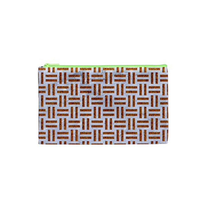 WOVEN1 WHITE MARBLE & RUSTED METAL (R) Cosmetic Bag (XS)